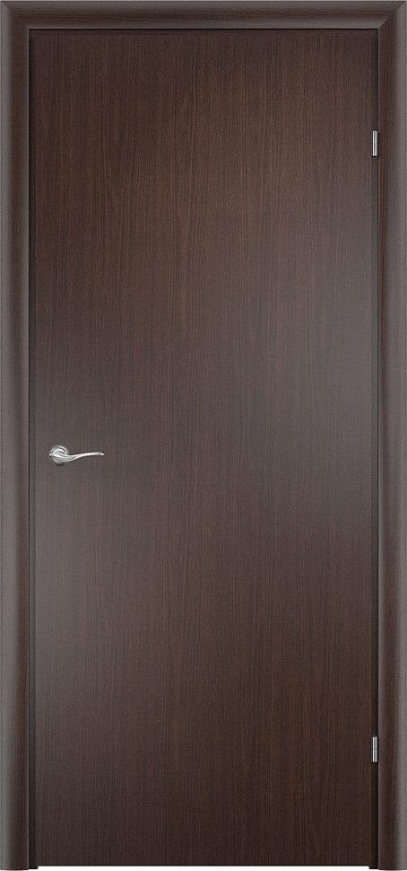 """""""Финская"""" строительная дверь гладкая Венге"""