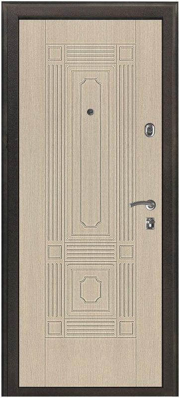 дверь входная двухсторонняя темная беленый дуб 1000 2100